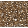 Twin 2-hole Bead 2.5x5mm Transparent crystal Bronze Lined